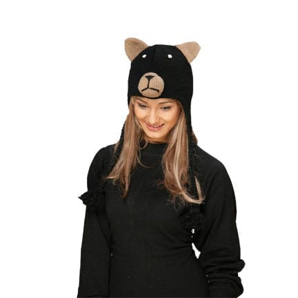 Black Bear Knitted Hat-0