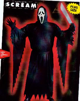 Scream Ghost Face Official Plus Size Costume-0
