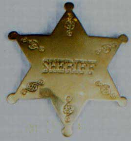 Sheriff Badge - Gold-0