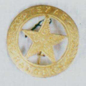 Texas Ranger Badge - Gold-0