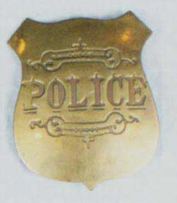 Police Badge - Gold-0