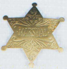 Marshall Badge - Fancy Gold-0
