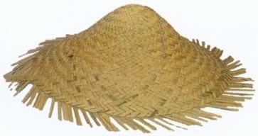 Straw Coolie Hat-0