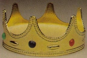 Child's Plastic Jeweled Crown-0