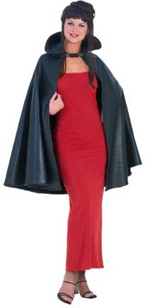 45 Inch Leather Look Cape-0