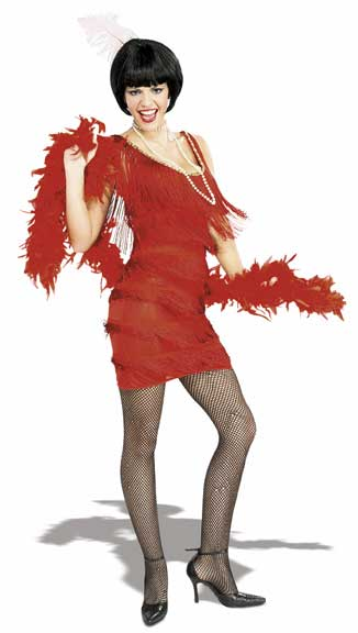 Roarin' Red Adult Flapper Costume-0