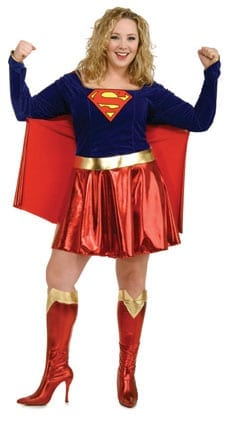 Supergirl Plus Size Ladies Costume-0