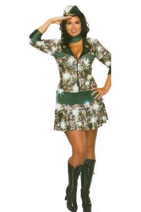 Commando Plus Size Ladies Costume-0
