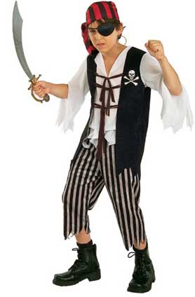 Captain Skully Childrens Costume-0