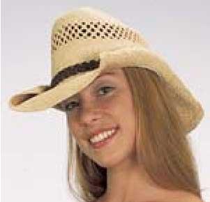 Rolled Brim Straw Cowboy Hat-0