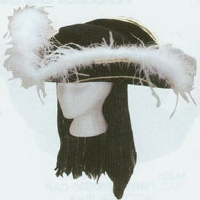 Colonial Tricorne with Black Wig-0
