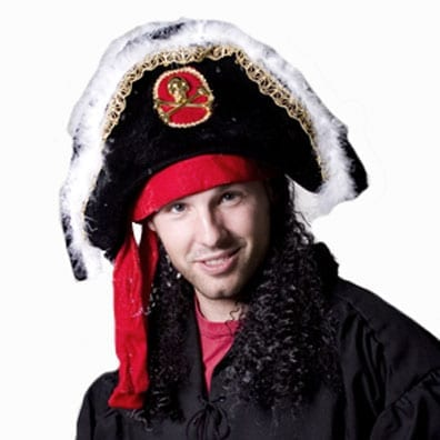Fancy Pirate Hat with Wig-0