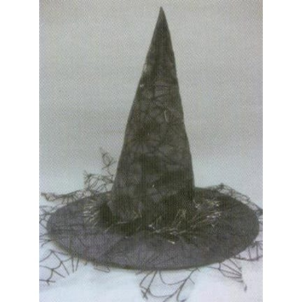 Witch Hat with Spider Netting-0
