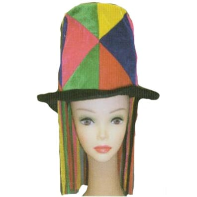 Patchwork Top Hat with Cords-0