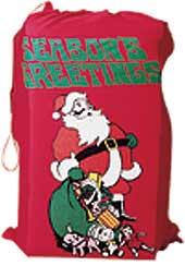 Santa Flannel Printed Bag-0