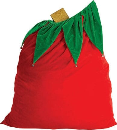 Velvet Santa Bag with Bells-0