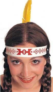 Native American Headband W/Quill-0