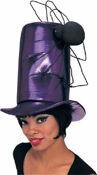 Purple Vinyl Stovepipe Spider Hat-0