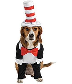 Cat in the Hat Pet Costume-0