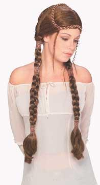 Renaissance Lady Wig - Brown-0