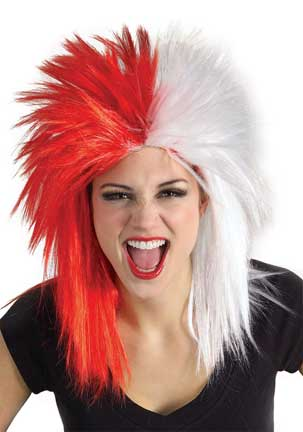 Red/White Sport Wig-0