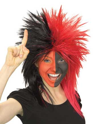 Red/Black Sports Fanatic Wig-0