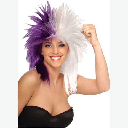 Purple/White Sports Fanatic Wig -0