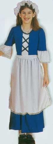 Colonial Girl Children Costume-0