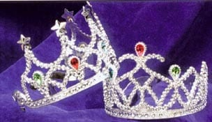 Gold Tiara With Colored Stones-0