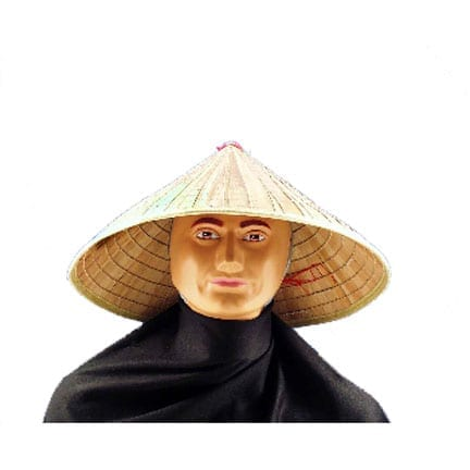 Chinese Bamboo Pointed Hat-0