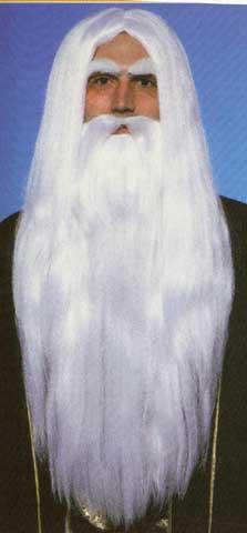 Merlin Wig & Beard Set-0