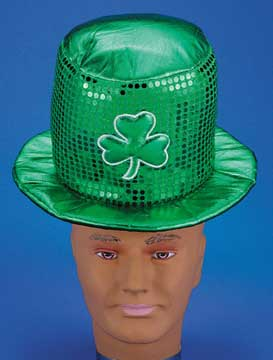 Sequin Shamrock Top Hat-0