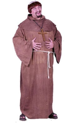 Medieval Monk with Wig Plus Size Costume-0