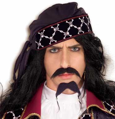 Caribbean Pirate Moustache & Beard Set-0