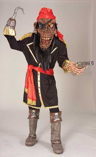 Zombie Pirate Adult Costume-0