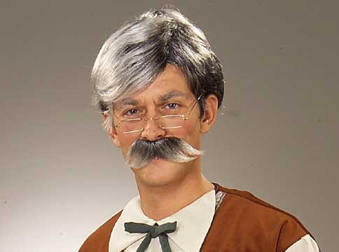 Gepetto Grey Wig & Moustache-0
