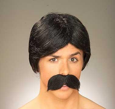 Burt Wig & Moustache - Black-0