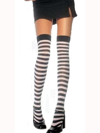 Adult Stripe Thigh Highs-0