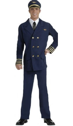 Airline Pilot Adult Costume-0