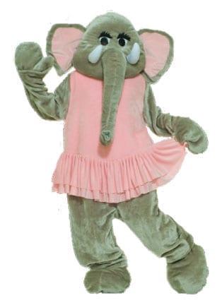 Elephant Mascot Costume-0