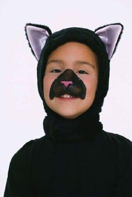Black Cat Hood & Nose Set-0