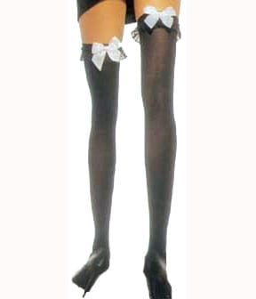 Adult Thigh Highs with Satin Bow-0