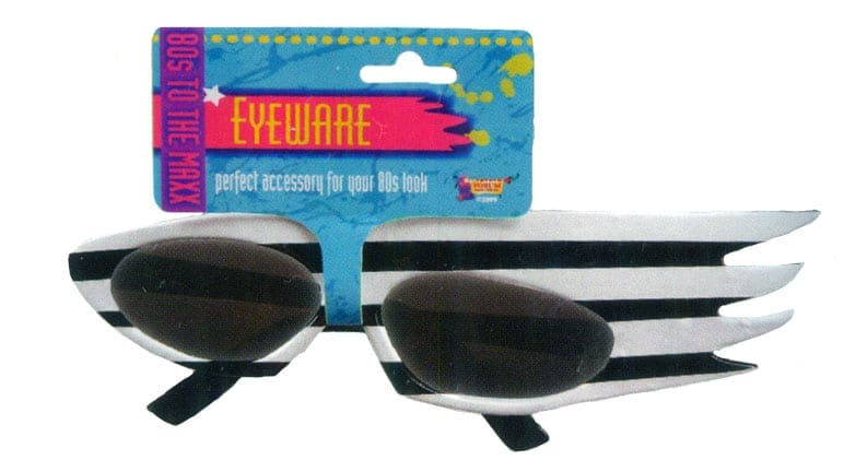 Striped Glasses - Black & White-0