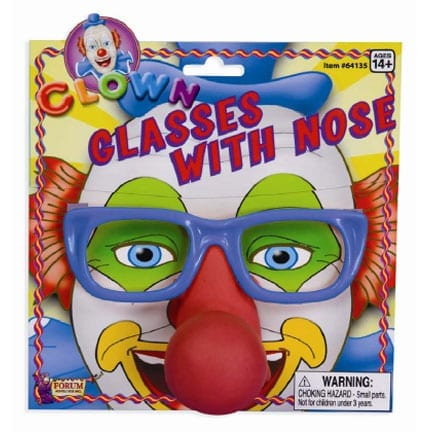 Clown Glasses with Attached Nose-0