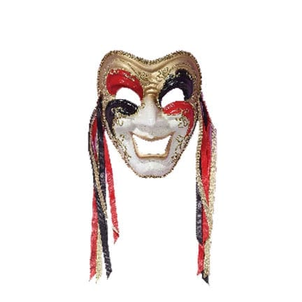 Comedy Mask - Black/Red/Gold-0