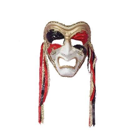 Tragedy Mask -Black/Red/Gold-0