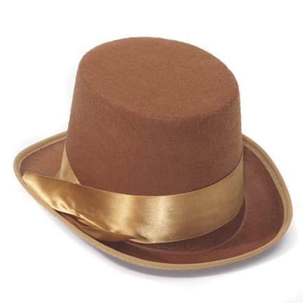 Brown Steampunk Top Hat-0
