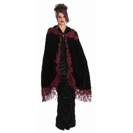 Vampiress Velvet Lace Cape-0