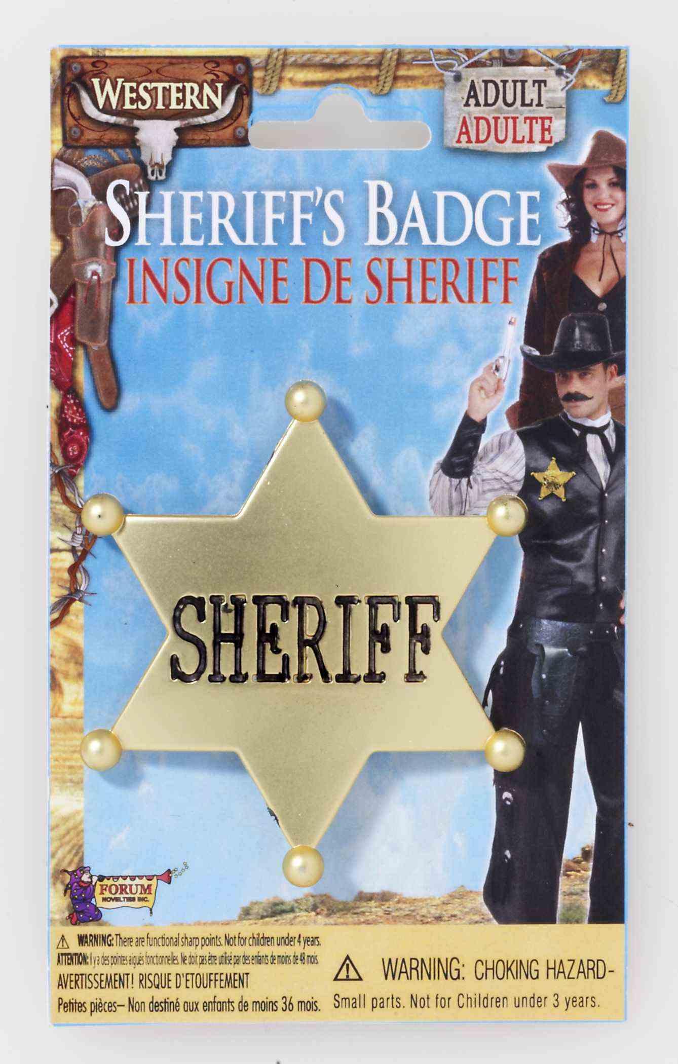 Wild West Sheriff Badge-0