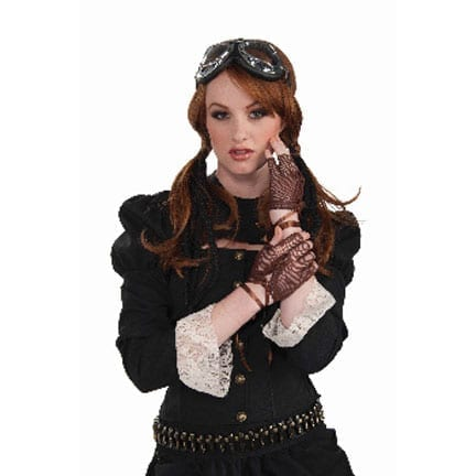 Steampunk Fingerless Gloves-0